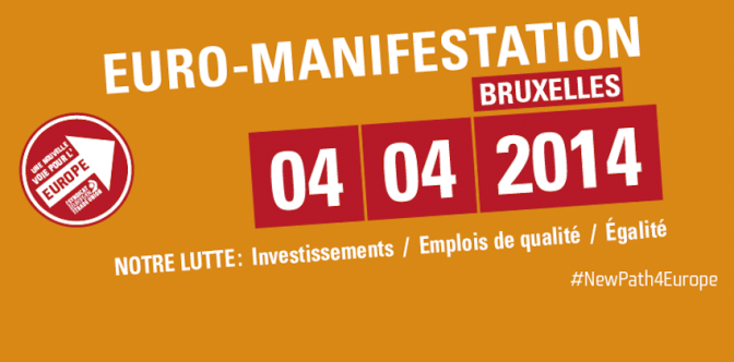 4 avril – Euromanifestation
