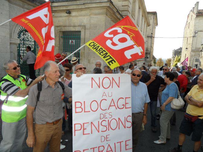 Retours sur la mobilisation du 30 sept. des Camarades retraités de la Charente