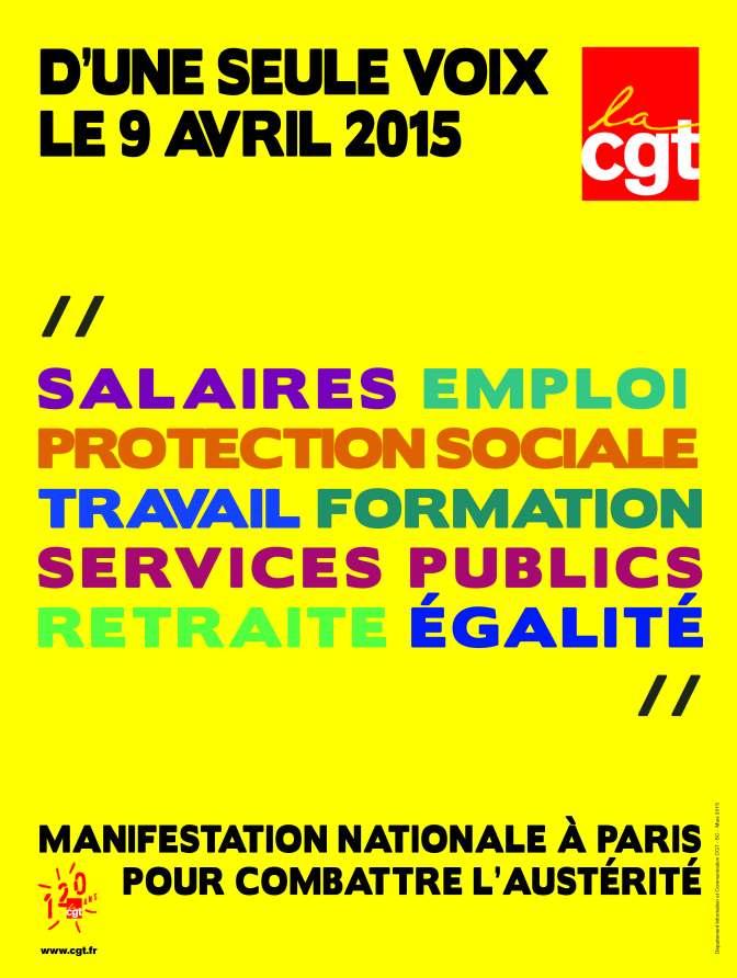 9 Avril, tous unis contre l'austérité !