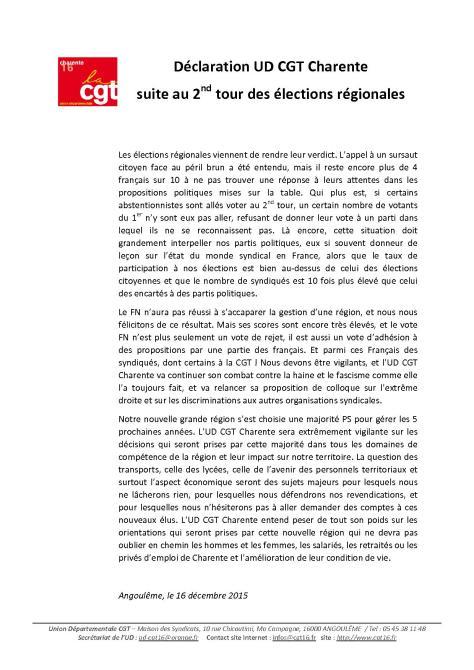2ème tour Déclaration UD CGT Charente IMG