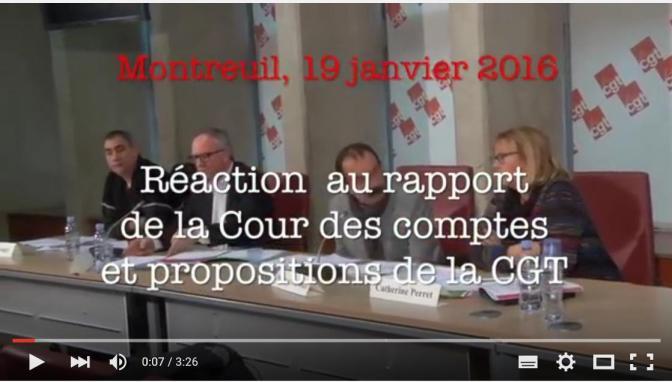 Vidéos : Suite à  la conférence de Presse du 19 janvier 2016