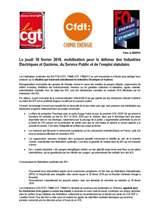 Appel Interfédéral IEG 18  Février 2016