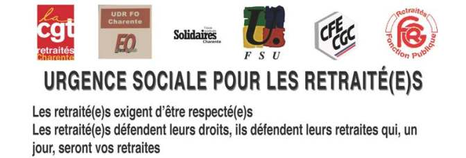 URGENCE SOCIALE POUR LES RETRAITÉ(E)S