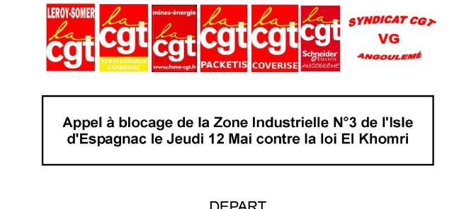 Les syndicatsde ZI n°3 appellent à l'action le 12 mai.