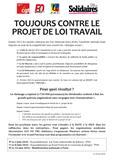 Tract Unitaire - 14 Juin 2016 - loi Travail El Khomri