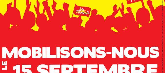 15 Septembre – Grève et manifestation