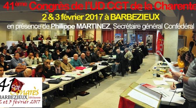 41ème Congrès de l'UD CGT de la Charente