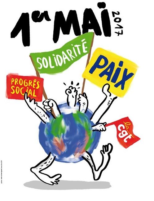 TRACT DU 1er MAI 2017 et Déclaration de la Commission exécutive confédérale