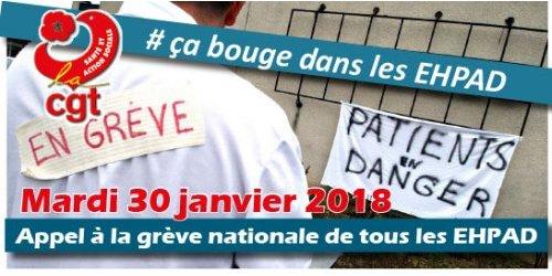 Mouvement national de grève dans les EHPADs – Lutter pour la dignité de nos aîné.e.s, c'est la conserver! Mardi 30 janvier à 14h30 au CH ANGOULEME HALL SUD