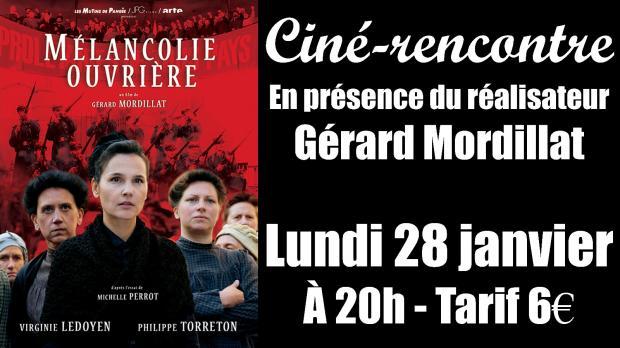 CINÉ-RENCONTRE : lundi 28 janvier à 20h au Cinescope Mégarama (Garat)