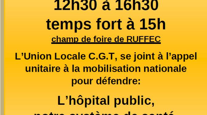 CAFÉ DE LA COLERE A RUFFEC : Jeudi 14 novembre 2019 – De 12h30 à 16h30