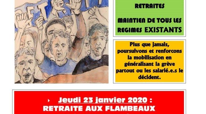 COMMUNIQUÉ INTERSYNDICAL DE LA CHARENTE DU 22-01-2020
