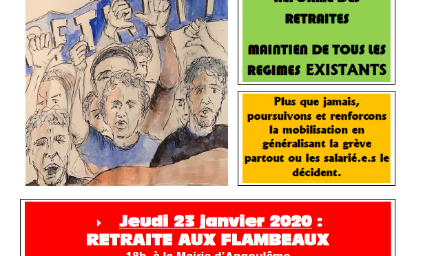 TRACT INTERSYNDICAL DE LA CHARENTE : 23 & 24 janvier 2020