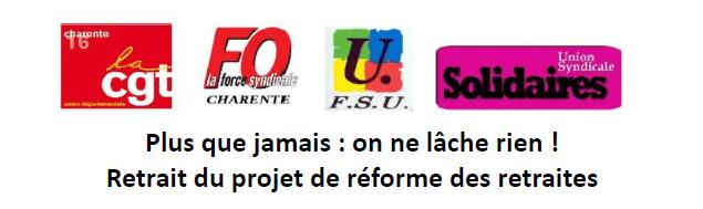 GRANDE MOBILISATION DU JEUDI 20 FÉVRIER 2020 : RDV A 10H GARE D'ANGOULEME